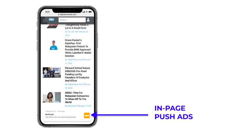 In-Page Push