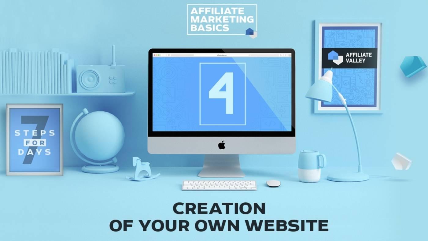 Affiliate Marketing Basics: Day 4 - New Website Creation