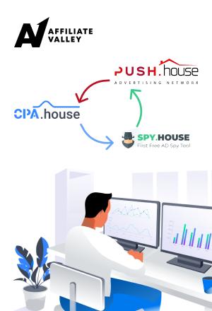 The Great Trinity: CPA.House/Push.House/Spy.House ecosystem