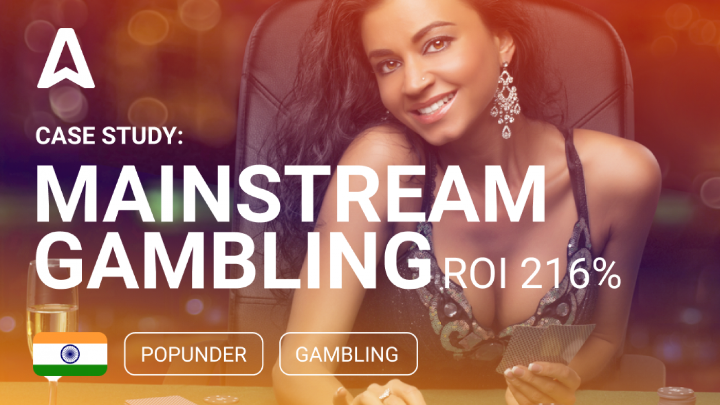 Case Study: 130% ROI on Gambling from Popunder